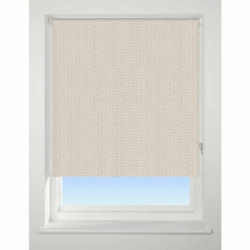 Universal Patterned Blackout Roller Blind - Knitted Texture
